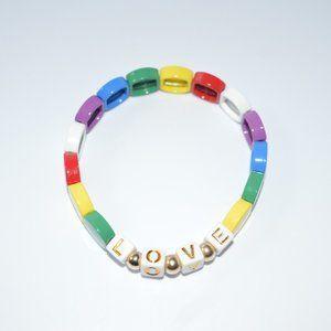 Personalize Tila Tiles Colorful 14k gold Bracelet